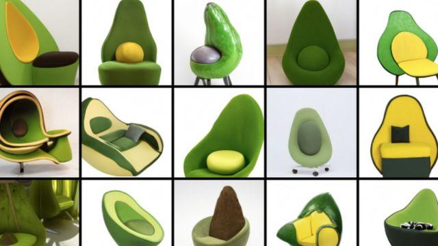 кресло-авокадо