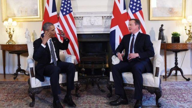 Barack Obama na David Cameron