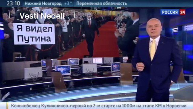 Dmitry Kiselyov presenting his TV programme
