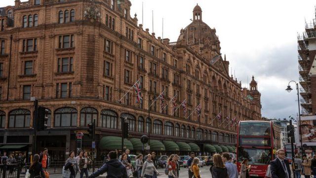 Harrods in London.