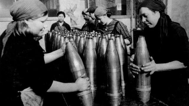 Mujeres rusas durante la Segunda Guerra Mundial.