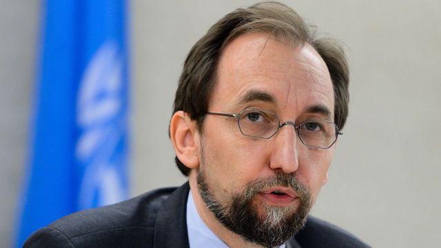 Le Prince Zeid a condamné l'usage excessif de la force, et l'incendie du siège de plusieurs partis politiques.