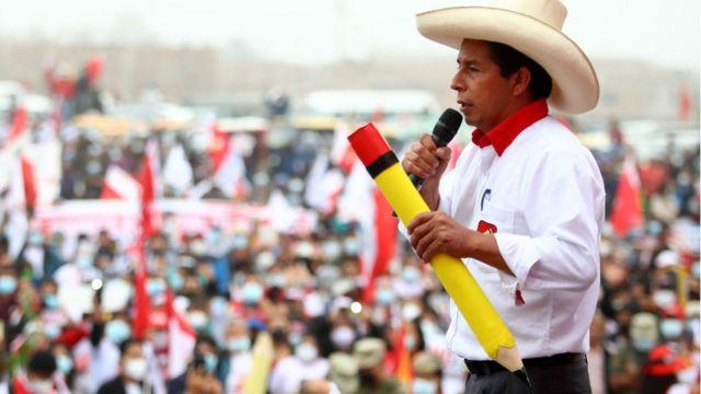 Pedro Castillo, en un mitin.