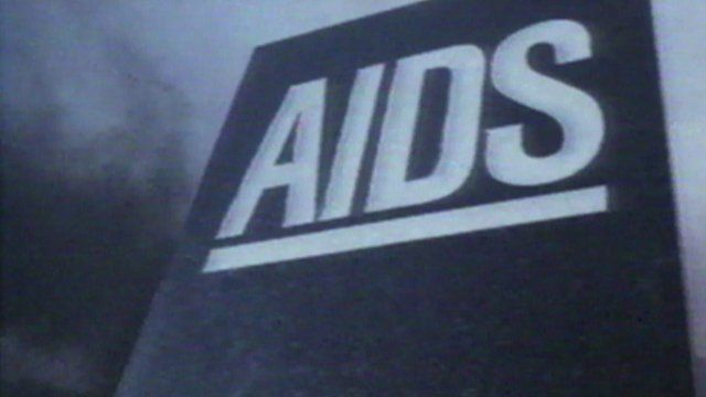 Tombstone reading 'Aids' from 1980s TV advert