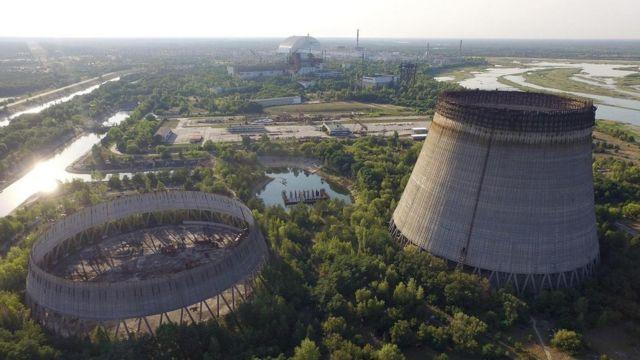 Planta de Chernóbil.