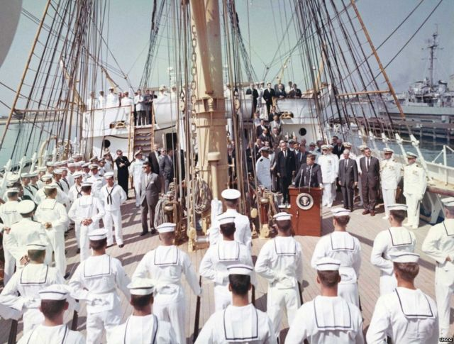 Why is the US still using a Nazi tall ship?