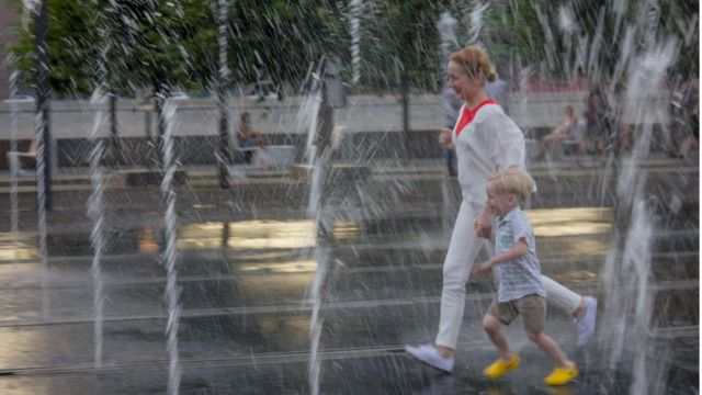 Московский парк Горького, фонтаны