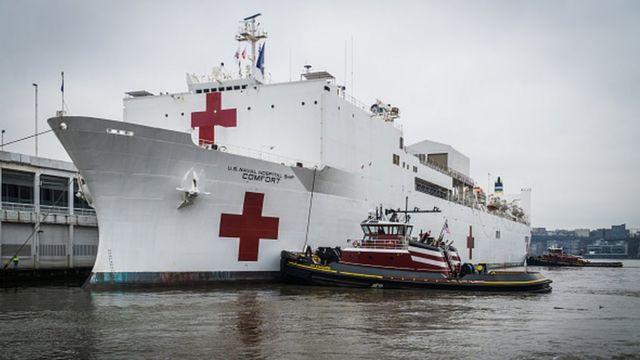 На пике пандемии в США пришлось задействовать даже плавучие военные госпитали