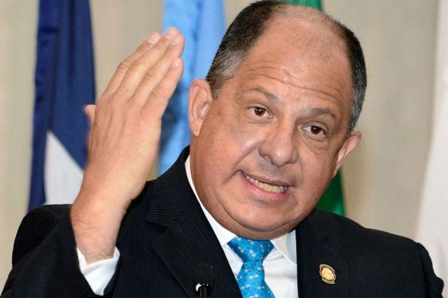 El presidente de Costa Rica, Luis Guillermo Solís.
