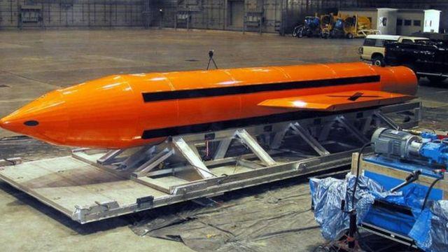 Узундугу 9 метр, салмагы 10 тоннага чукул, дүйнөдөгү эң чоң өзөктүк эмес бомба 2003-жылы сыноодон өткөн