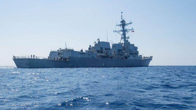 杜威号导弹驱逐舰在南海(6/5/2017)