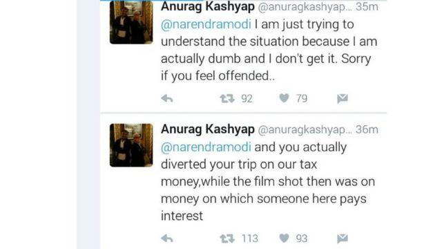 अनुराग कश्यप ने नरेंद्र मोदी से भी मांगा जवाब