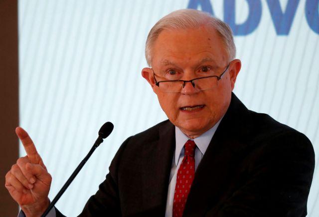 O procurador-geral dos Estados Unidos, Jeff Sessions,