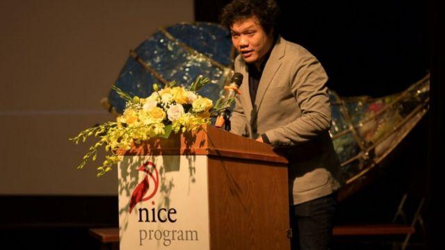 Ông Đinh Đức Hoàng, Phó tổng giám đốc Trung tâm thông tin UNESCO, giải thích bốn lý do ra đời của NICE