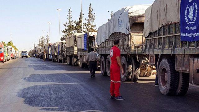 ONU ivuga ko yashoboye gushikana imfashanyo i Moadamiya muri Syria