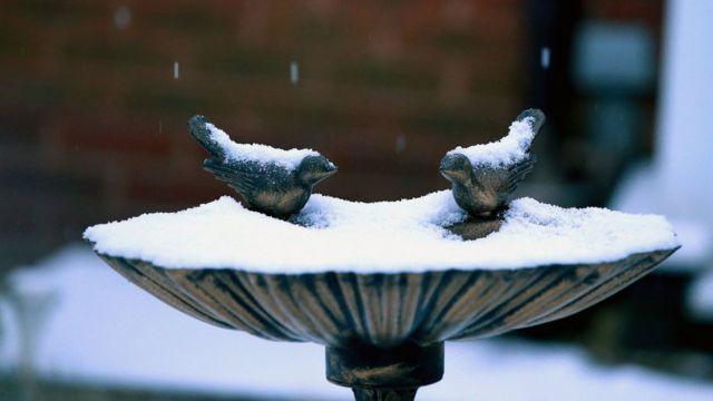 Сильнейший снегопад в Ливерпуле