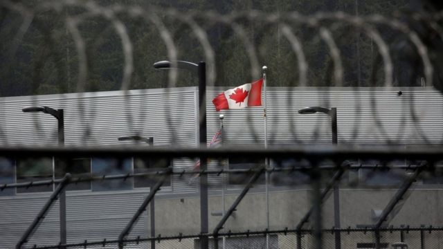 A Canadian flag flies outside of the Alouette Correctional Centre for Women, where Huawei CFO Meng Wanzhou is being held on an extradition warrant, in Maple Ridge, British Columbia, Canada December 8, 2018.