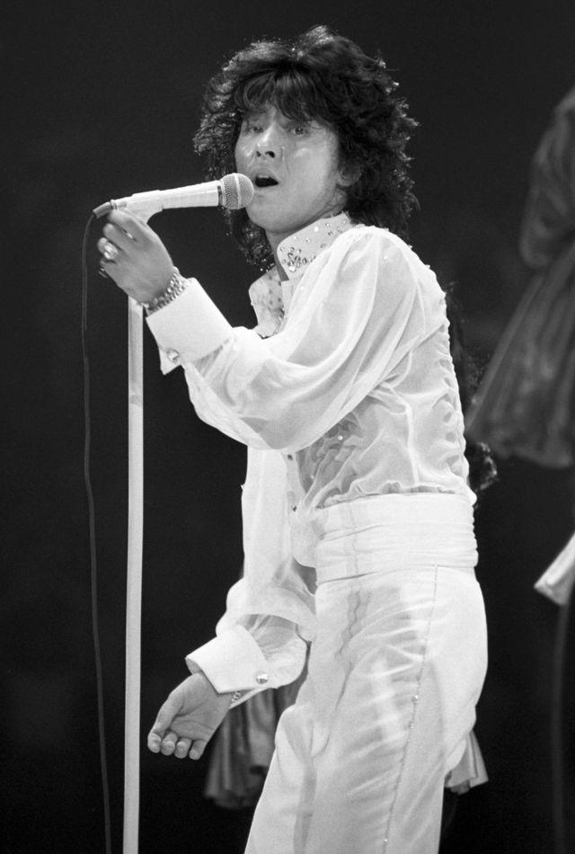 西城秀樹在1979年的一場表演上