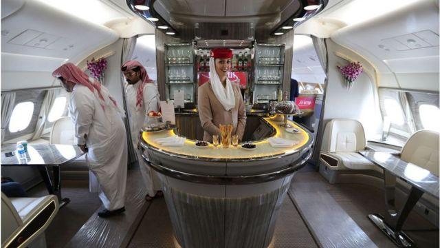 A380 plane interior