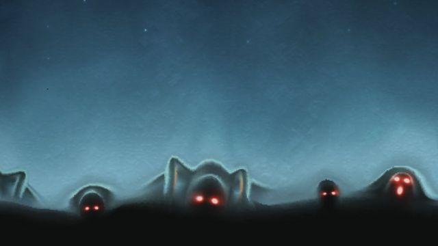 Красные глаза в тумане