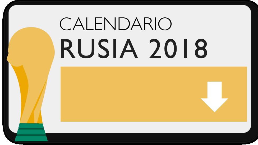 Descarga el calendario del Mundial de Rusia 2018.