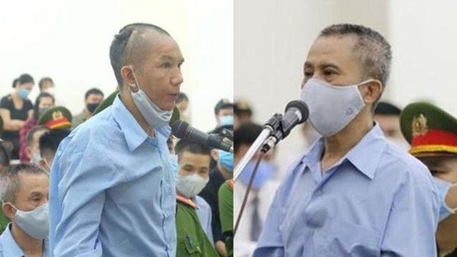 Hai ông Lê Đình Công, Lê Đình Chức, con ông Lê Đình Kình, bị tuyên án tử hình trong phiên tòa ngày 14/9/2020