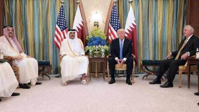 Trump en visita oficial a Qatar el pasado 21 de mayo.