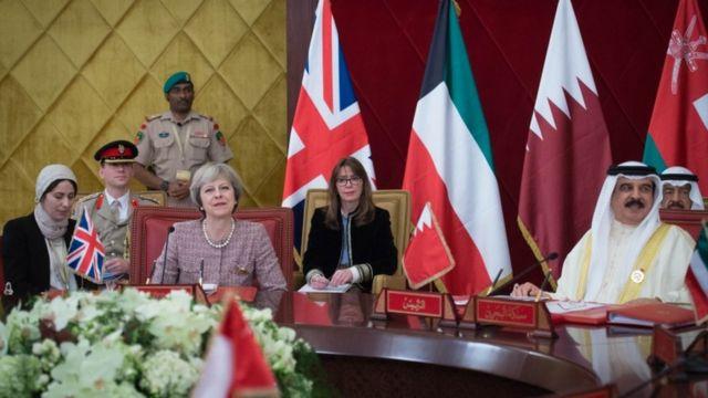 ماي في قمة مجلس التعاون الخليجي