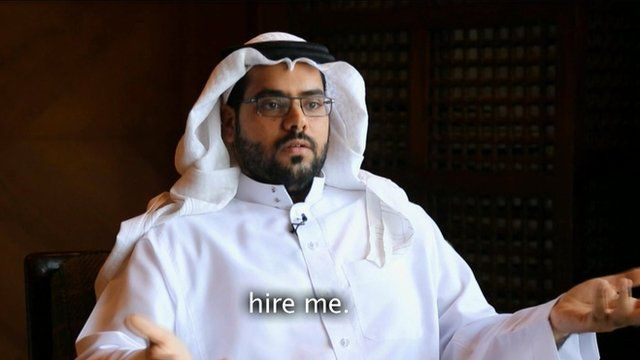 Saudi university graduate Zaid Al-Sahli talks about his experience trying to find a job in Saudi during an oil crisis.