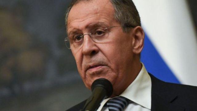 """นายเซอร์เก ลาฟรอฟ รัฐมนตรีต่างประเทศรัสเซีย กล่าวว่ารัสเซียจะตอบโต้ """"ในลักษณะเดียวกัน"""""""