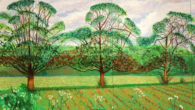 Ilustração de árvores