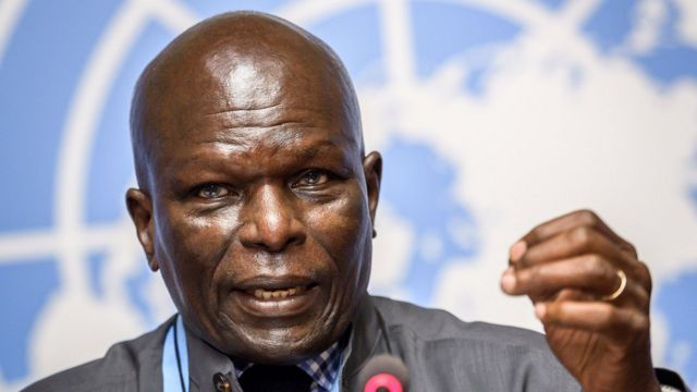 Doudou Diène, umukuru w'akanama kajejwe amatohoza ku gateka ka zina muntu mu Burundi, ntabonwa neza na leta y'ico gihugu