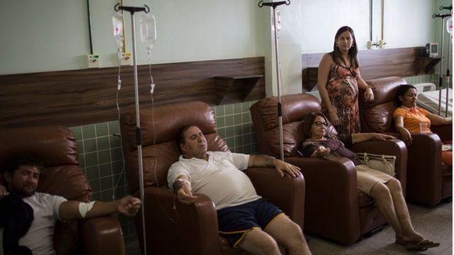Pacientes em hospital