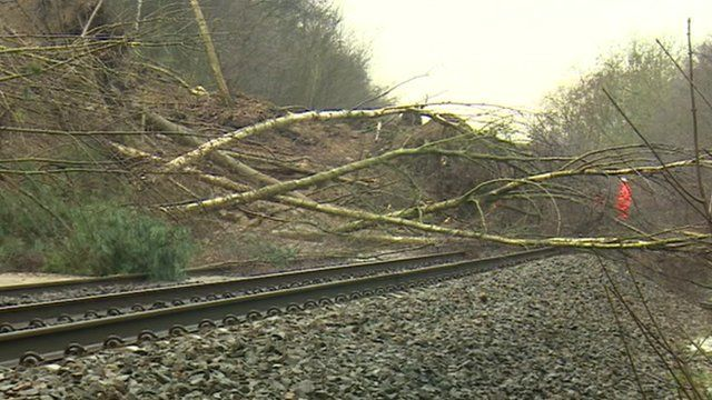 Landslip at Farnley Haugh