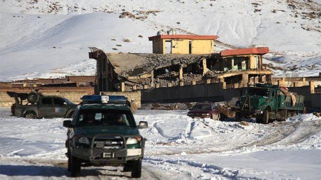 Taliban militants kill dozens at Afghan intelligence base