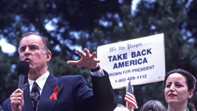 Jerry Brown in 1992