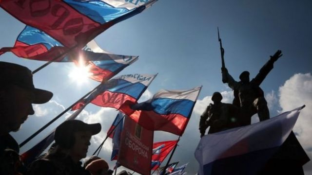 """Третью годовщину """"вхождения в состав России"""" в Крыму отпраздновали демонстрациями"""