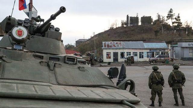 Российские миротворцы в Лачине