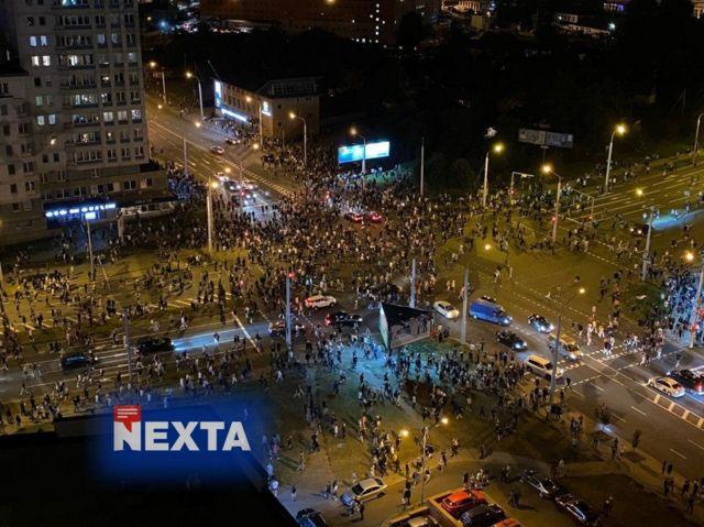 Фото протестів з Telegram NEXTA Live