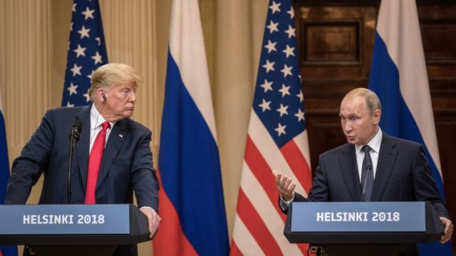 Trump y Putin en Helsinki.