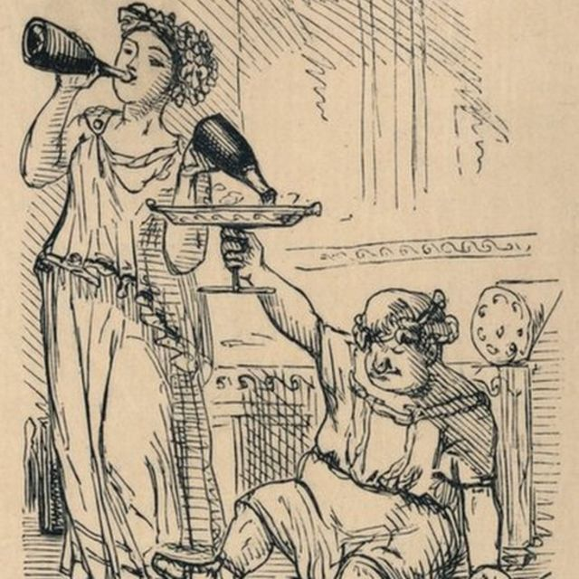 Bacchanalian Group, 1852, ilustração de John Leech
