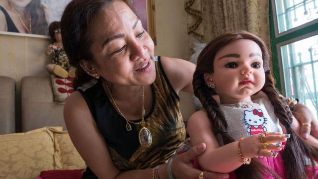 Mananya Boonmi and her doll