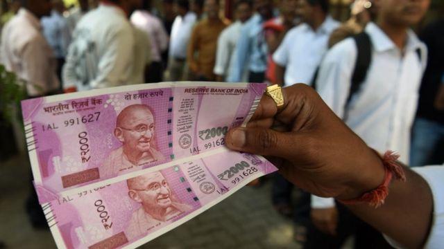 2000 रुपए का नया भारतीय नोट
