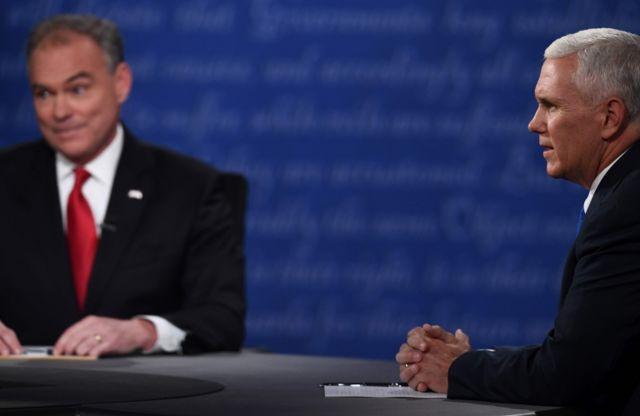 Los aspirantes a vicepresidente iniciaron debatiendo sobre todo de sus líderes.