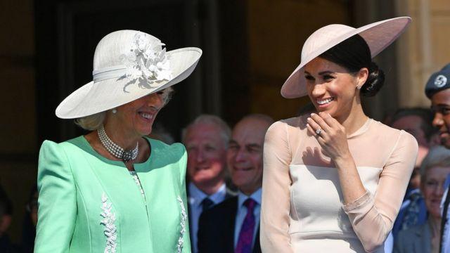 La duquesa de Cornualles y la de Sussex.