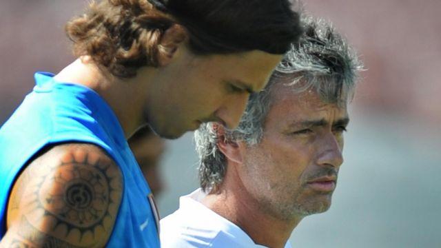 Zlatan junto a Mourinho en el Inter de Milán.