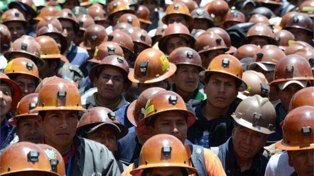 Mineros bolivianos