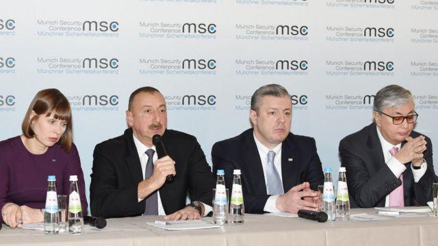 Kersti Kaljulaid, İlham Əliyev, Giorgi Kvirikaşvili və Kasım-Jomart Tokayev