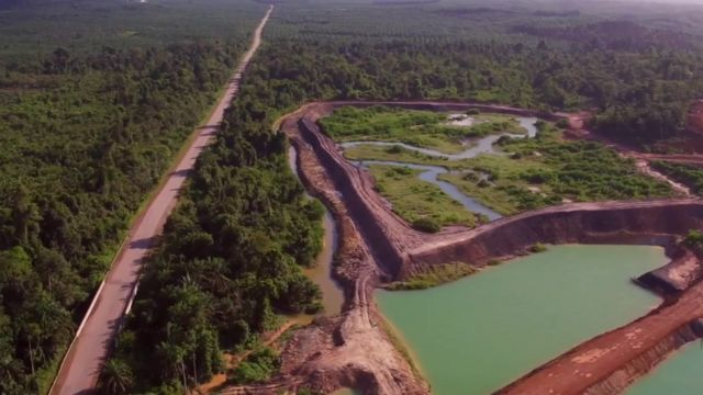 A mine in Kuantan, Malaysia.