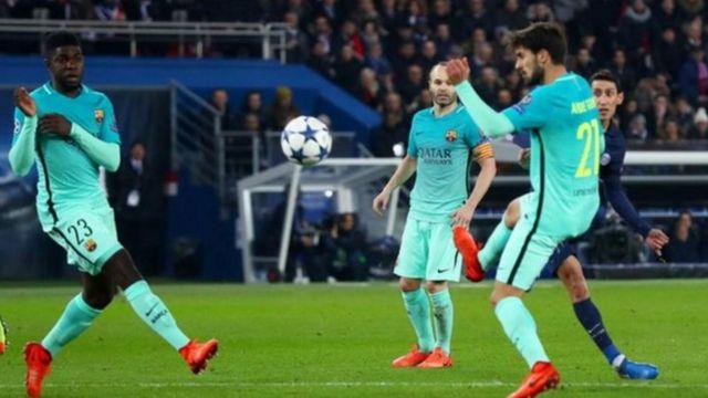 هزيمة قاسية لبرشلونة في دوري الأبطال بأربعة أهداف نظيفة